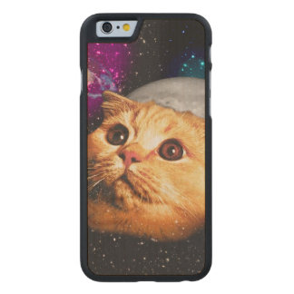 cat moon ,cat and moon ,catmoon ,moon cat carved maple iPhone 6 case