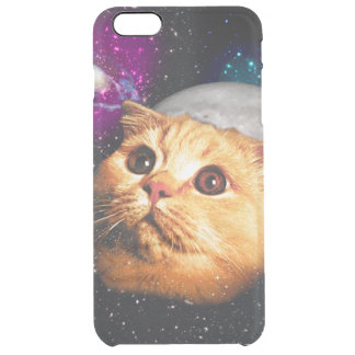 cat moon ,cat and moon ,catmoon ,moon cat clear iPhone 6 plus case