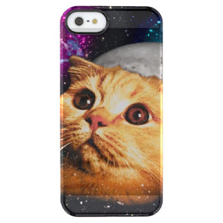 cat moon ,cat and moon ,catmoon ,moon cat clear iPhone SE/5/5s case