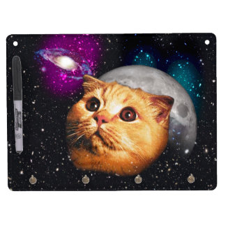 cat moon ,cat and moon ,catmoon ,moon cat dry erase board with key ring holder