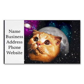 cat moon ,cat and moon ,catmoon ,moon cat Magnetic business card