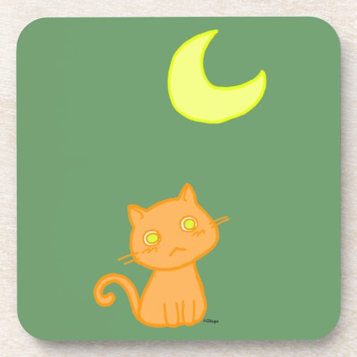 Cat Moon Coaster