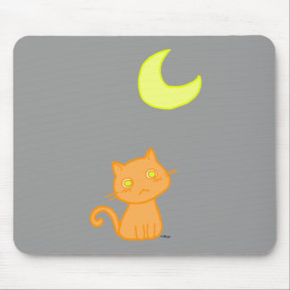 Cat Moon Mouse Pad