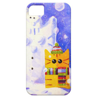 Cat, Mouse and snowman Barely There iPhone 5 Case