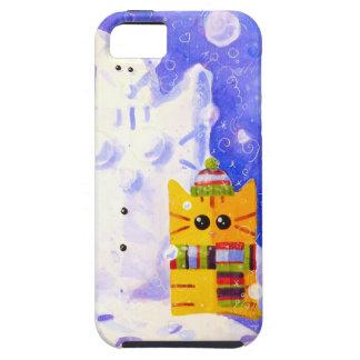 Cat, Mouse and snowman Tough iPhone 5 Case