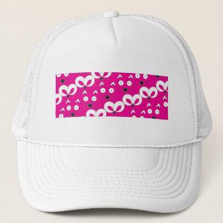 Cat Mouse Pattern Hot Pink Trucker Hat