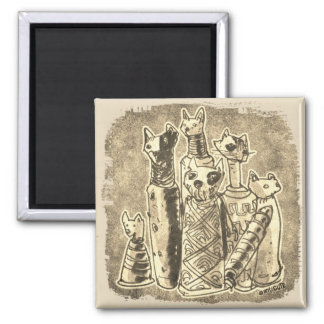 cat mummies funny cartoon magnet