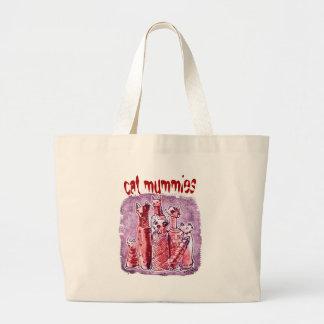 cat mummies large tote bag