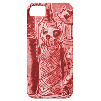 cat mummies red iPhone 5 covers