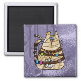 cat mummy 2 square magnet