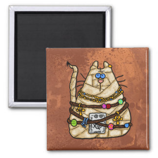 cat mummy 3 square magnet