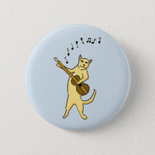 Cat Music 6 Cm Round Badge