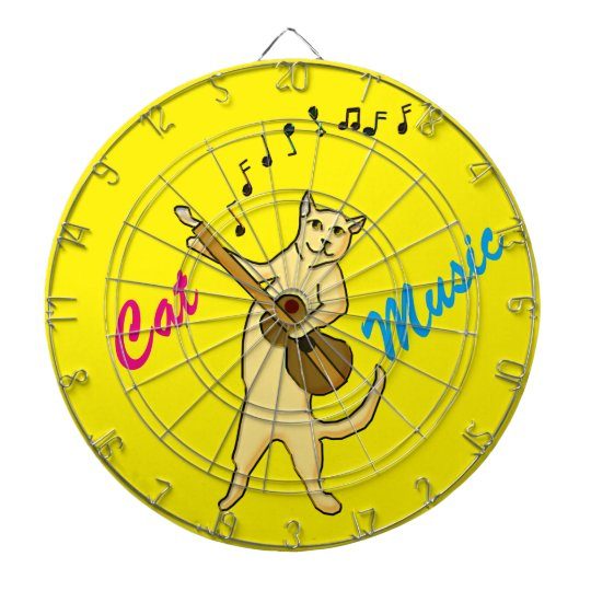 Cat Music Dartboard