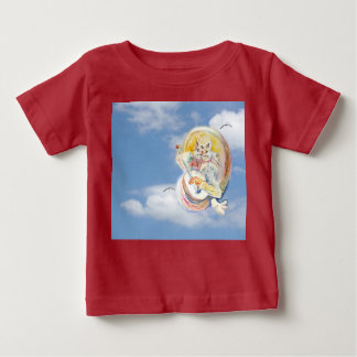 Cat Music in Clouds Baby T-Shirt