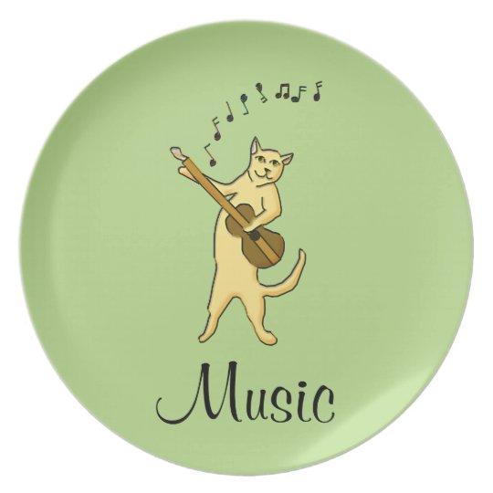 Cat Music Plate