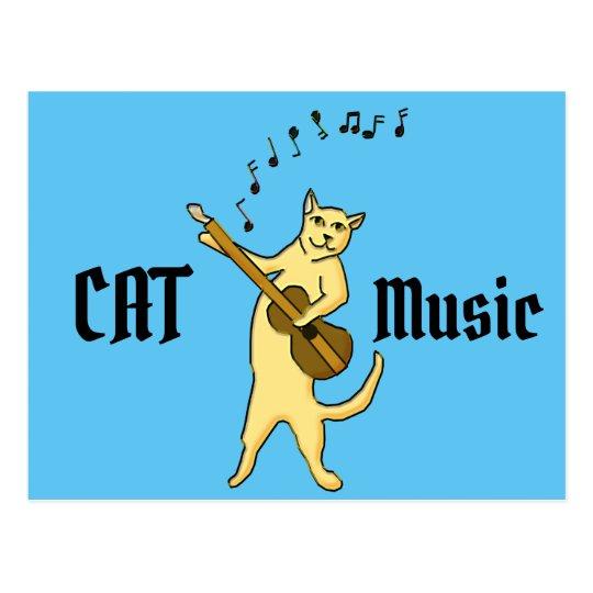 Cat Music Postcard
