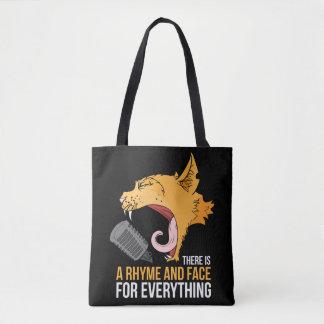 Cat music tote bag