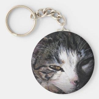 Cat Named Lauren Basic Round Button Key Ring