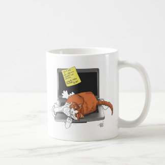 Cat-napped computer mug