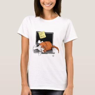 Cat-napped computer T-Shirt