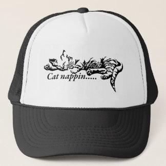 Cat nappin.......... trucker hat