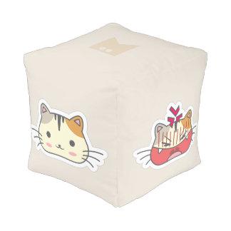 Cat Neko Emoji Emoticon Smiley Collection. Pouf