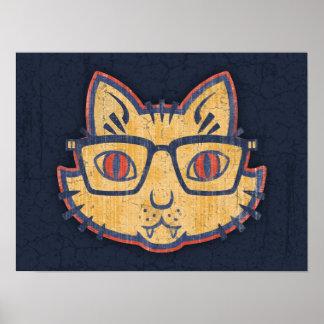 Cat Nerd Poster