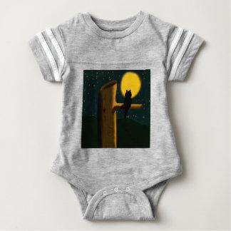 Cat night baby bodysuit