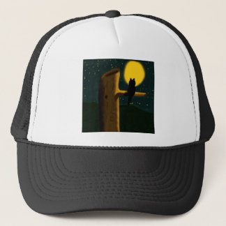 Cat night trucker hat