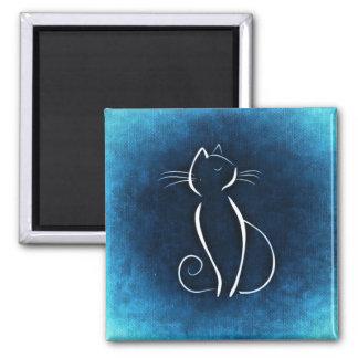 Cat Noir Blue Magnet