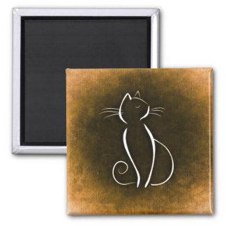 Cat Noir Orange Magnet