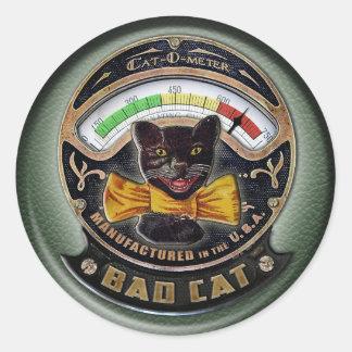 Cat-o-Meter Classic Round Sticker