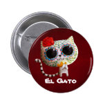 Cat of Day of The Dead Pin