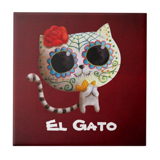 Cat of Day of The Dead Tiles