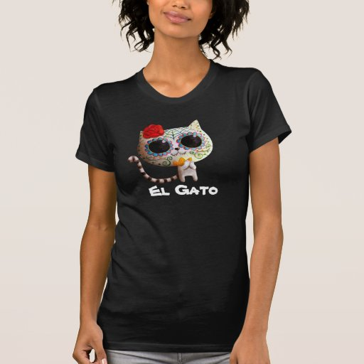 Cat of Day of The Dead Tees