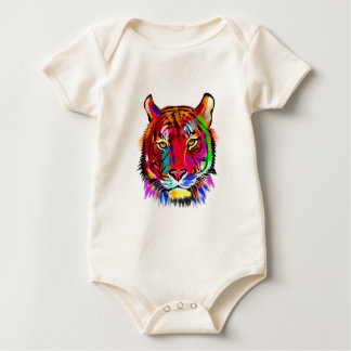 Cat of many colors baby bodysuit