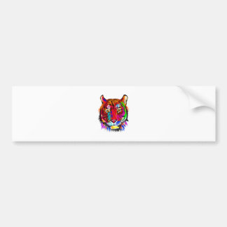 Cat of many colors bumper sticker