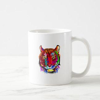 Cat of many colors coffee mug