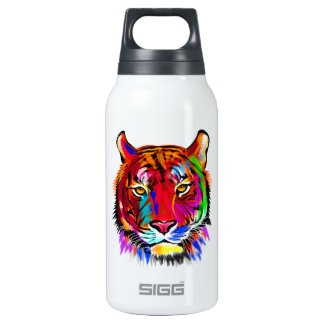 Cat of many colors insulated water bottle