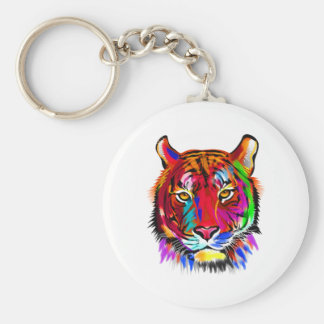 Cat of many colors key ring
