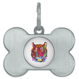Cat of many colors pet tag