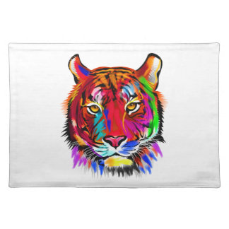 Cat of many colors placemat