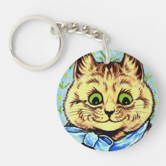 Cat of the blue ribbon, Louis Wain Key Ring