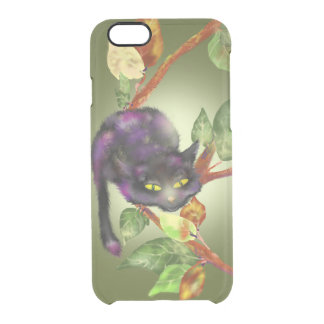Cat on a branch clear iPhone 6/6S case