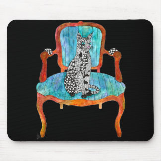 Cat on a Chair Mousepad