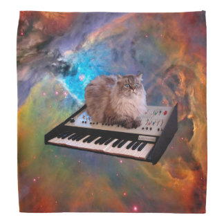 Cat on a Keyboard in Space Bandana