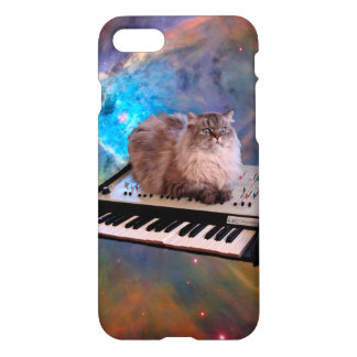 Cat on a Keyboard in Space iPhone 7 Case