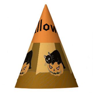 Cat on a Pumpkin Party Hat