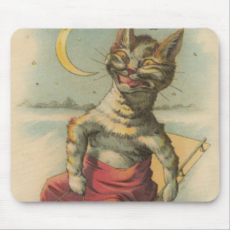 Cat on a Sled Mouse Pad
