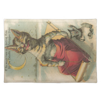 Cat on a Sled Placemat